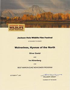 Jackson Hole Award - Best Newcomer