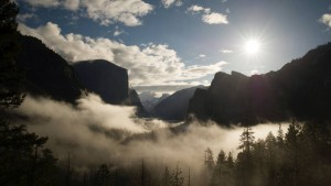 """Tunnel View"" des Yosemite Valleys"